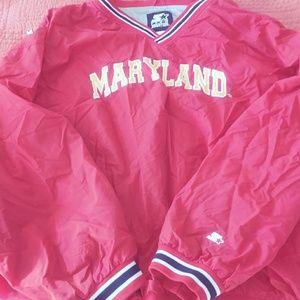 Univ of Maryland v-neck SZ 2 XL $25 +FREE gift